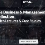 Screencapture of HSTalks webpage titled the Business and Management Collection