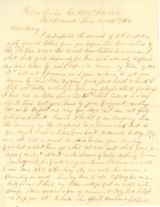 Joseph Culver Letter, December 16, 1862, Letter 2, Page 1