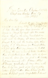 Joseph Culver Letter, November 1, 1862, Page 1