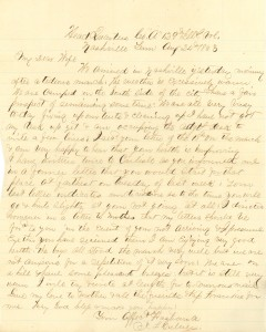 Joseph Culver Letter, August 24, 1863, Page 1