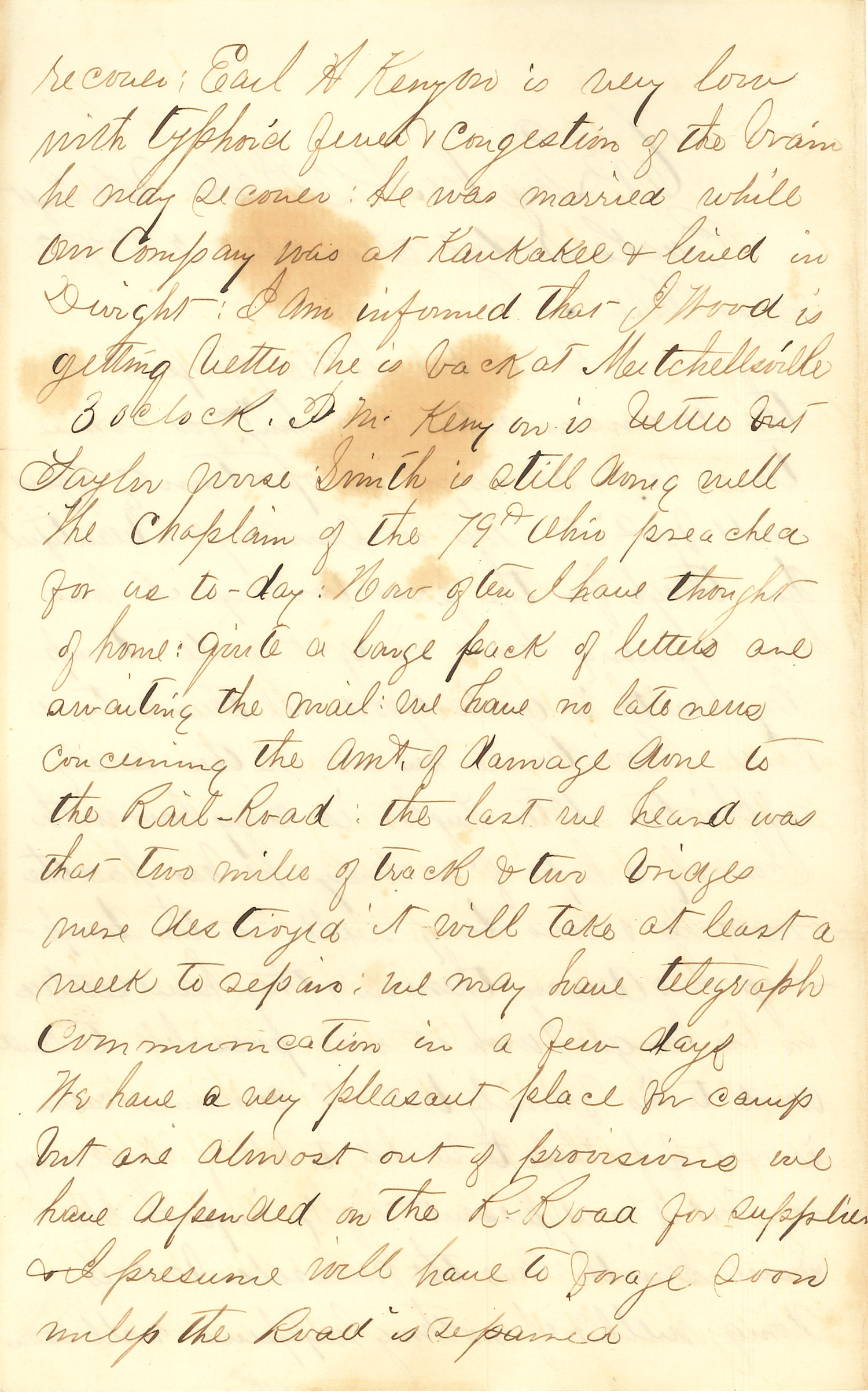 Joseph Culver Letter, December 28, 1862, Page 2