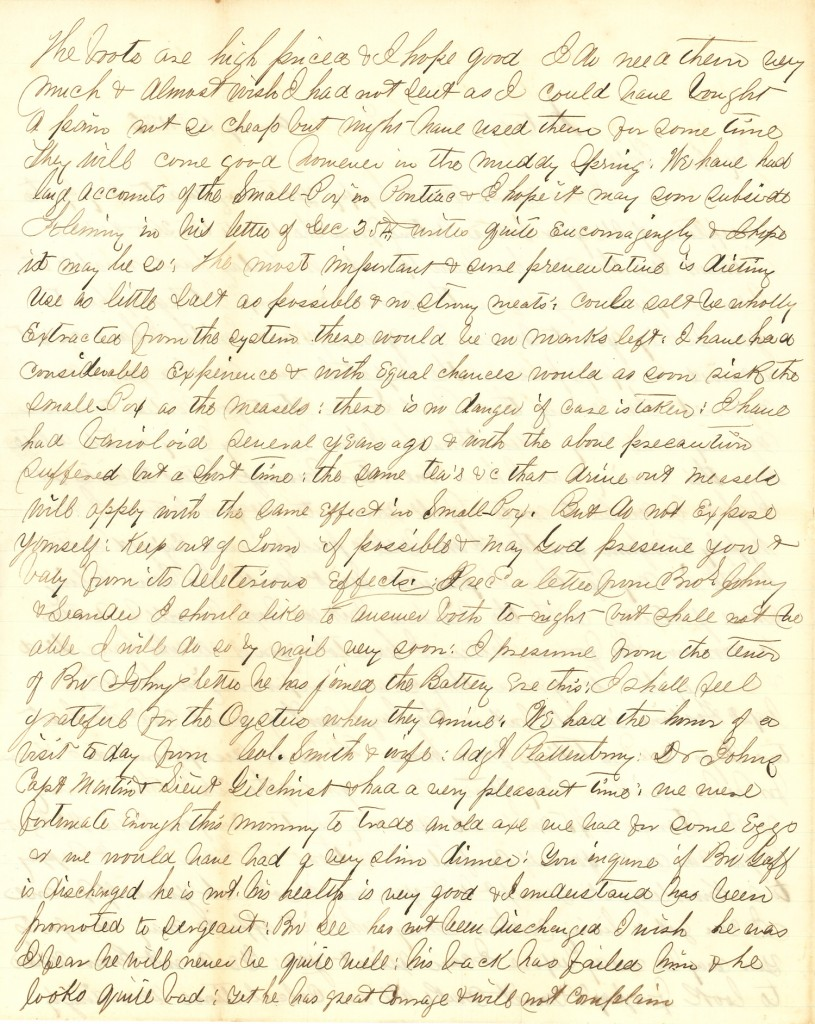 Joseph Culver Letter, January 12, 1863, Page 2