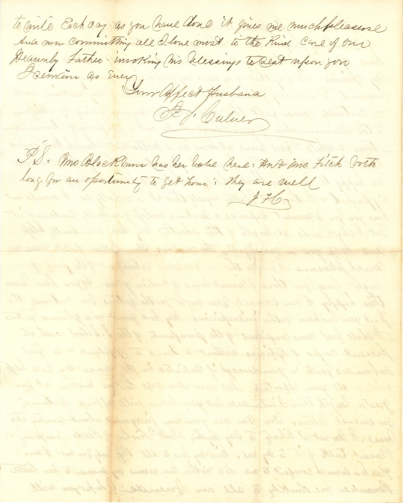 Joseph Culver Letter, January 12, 1863, Page 4
