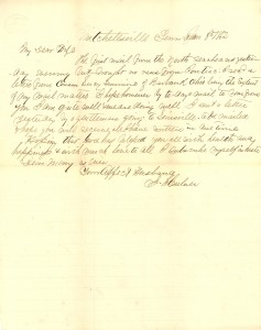 Joseph Culver Letter, January 8, 1863, Page 1