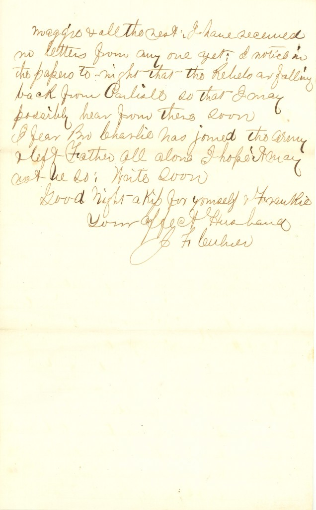 Joseph Culver Letter, July 1, 1863, Page 3