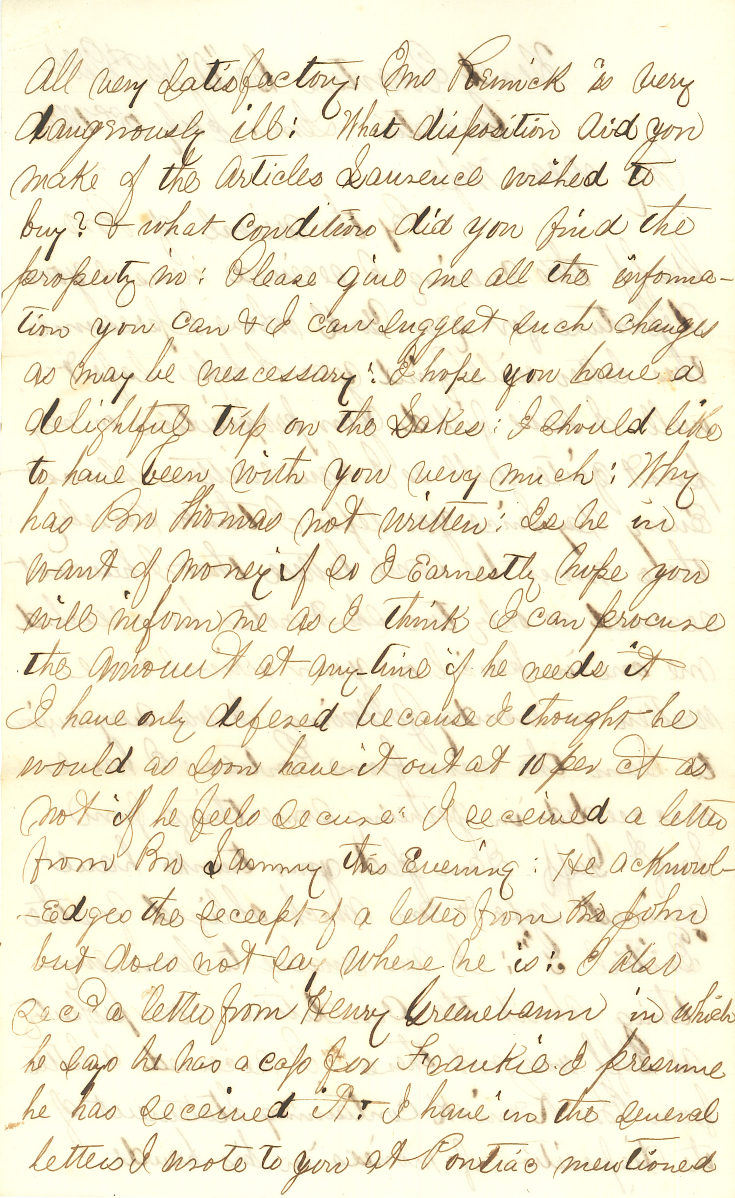 Joseph Culver Letter, July 2, 1863, Page 2