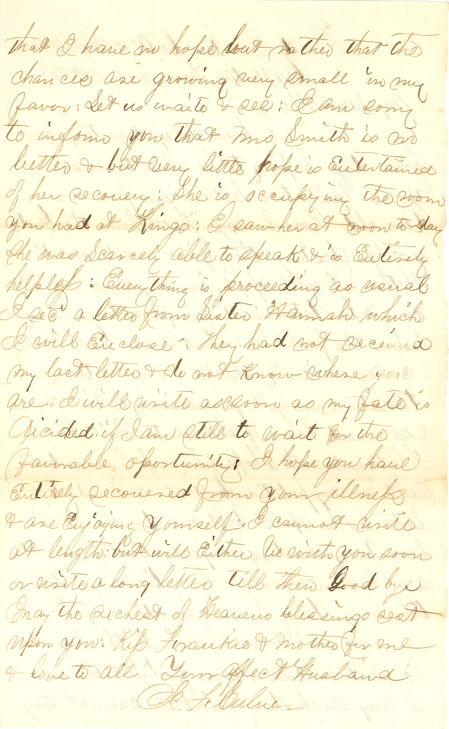 Joseph Culver Letter, July 21, 1863, Page 2