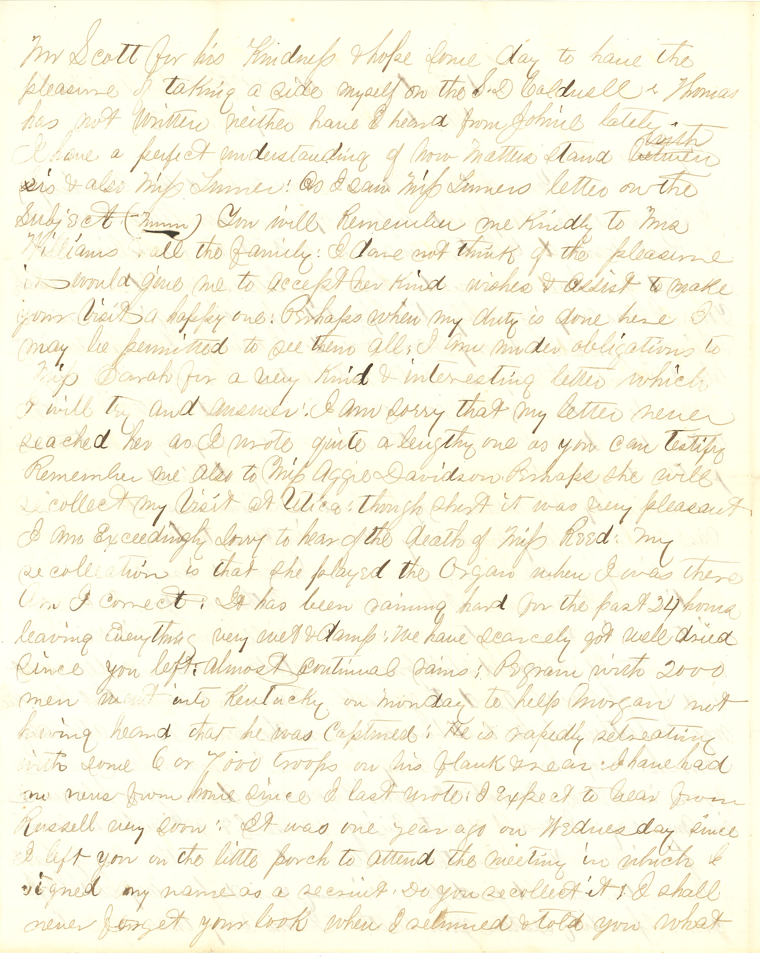 Joseph Culver Letter, July 30, 1863, Page 2