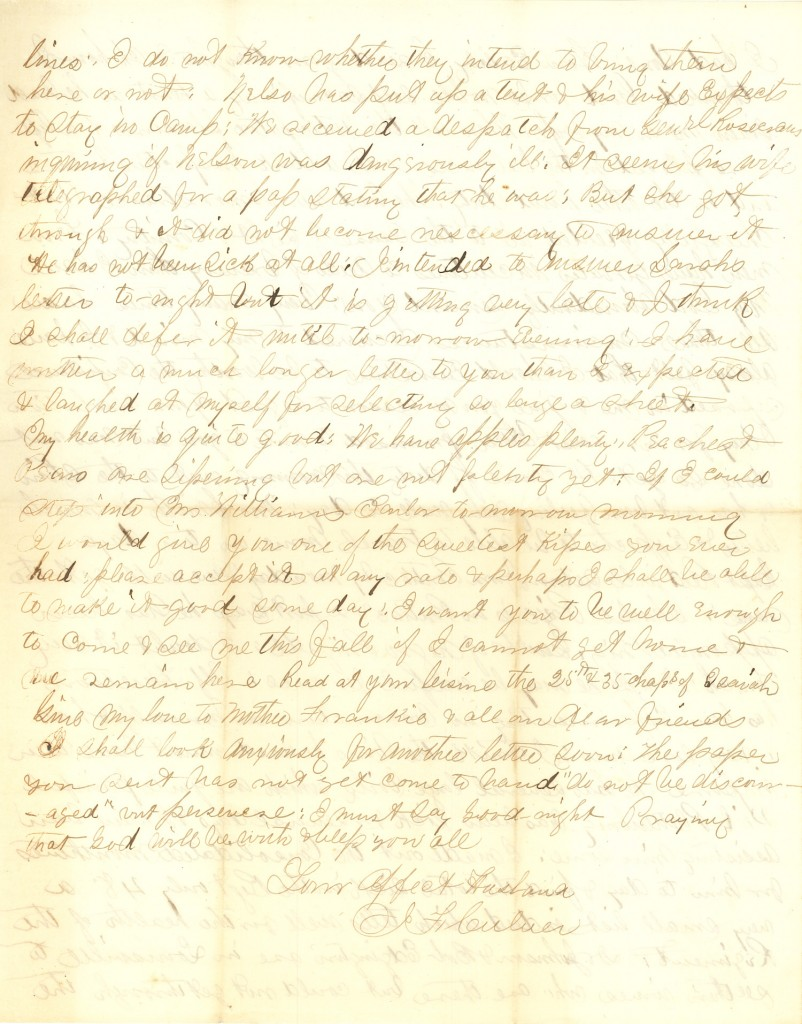 Joseph Culver Letter, July 30, 1863, Page 4