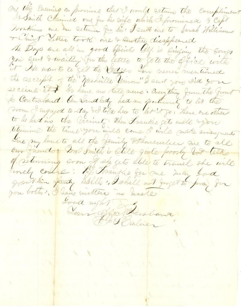 Joseph Culver Letter, October 2, 1863, Letter 2, Page 2