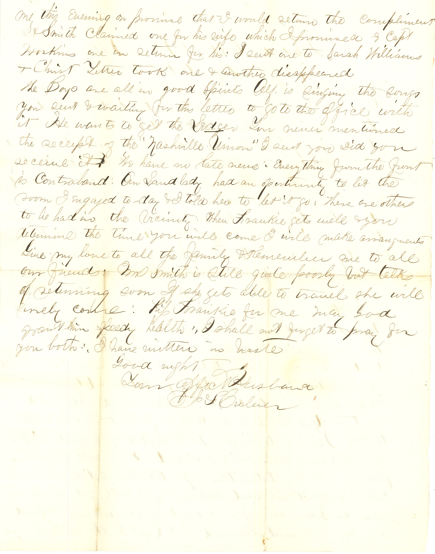 Joseph Culver Letter, October 2, 1863, Letter 2, Page 2