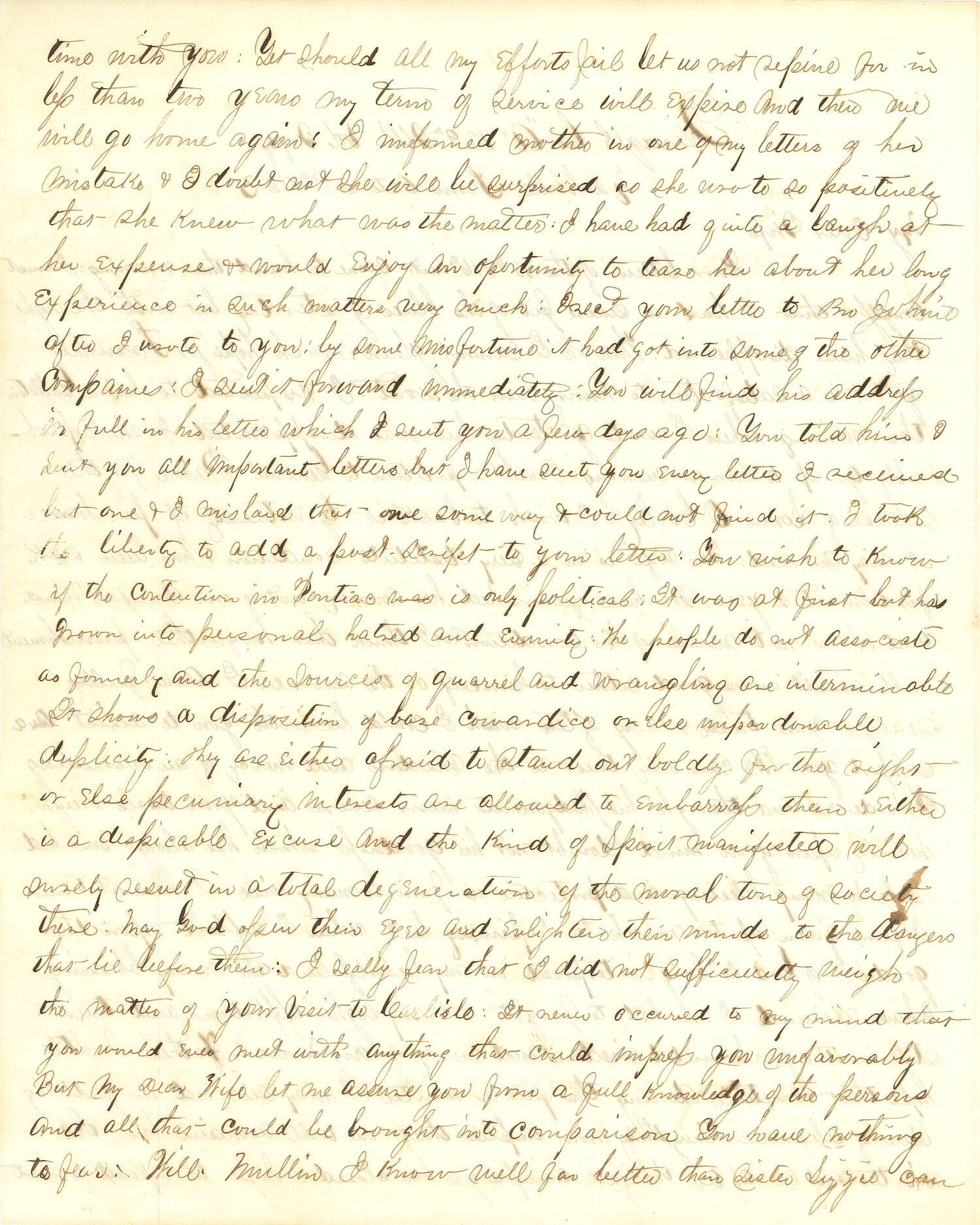 Joseph Culver Letter, October 23, 1863, Page 2