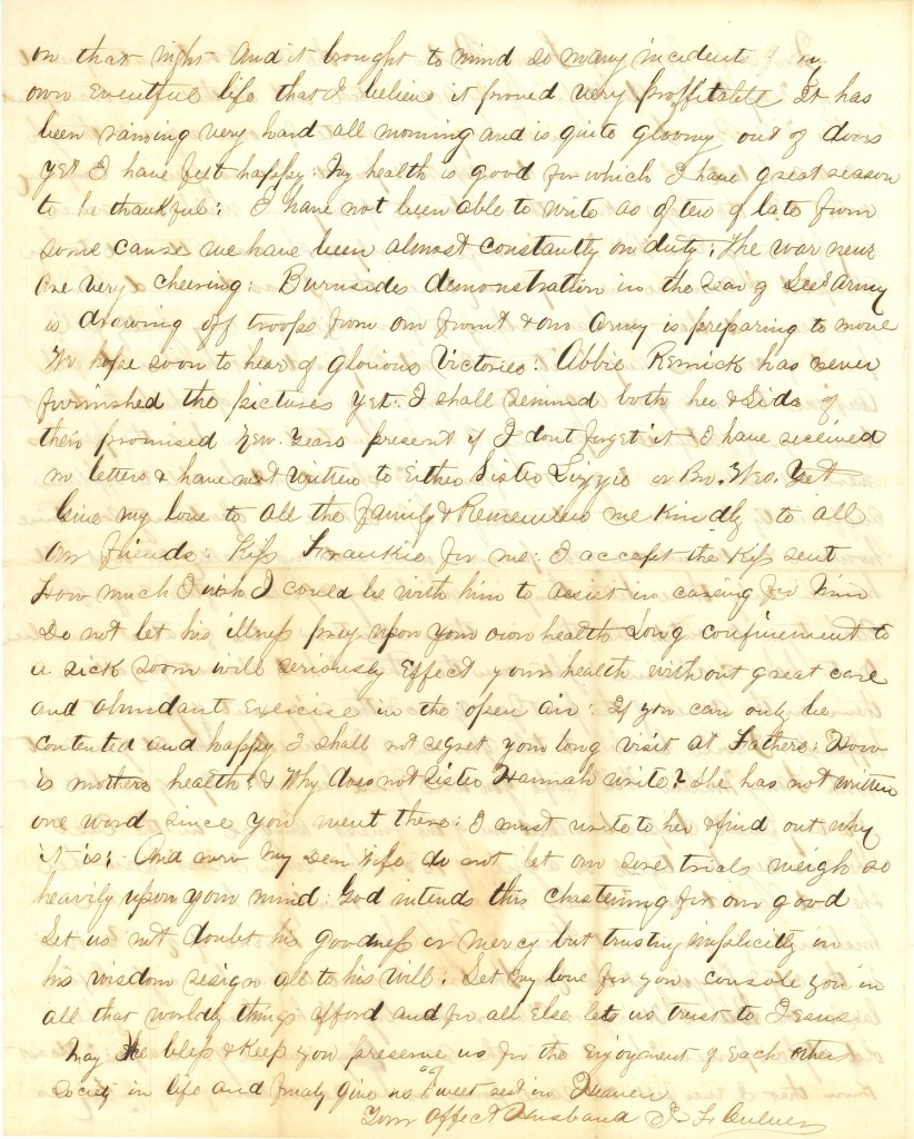 Joseph Culver Letter, October 23, 1863, Page 4