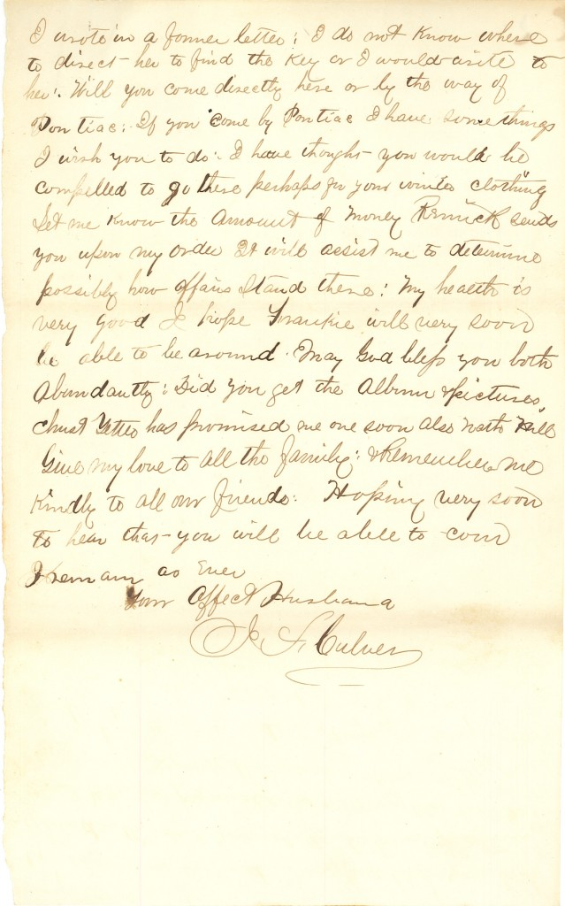 Joseph Culver Letter, October 5, 1863, Page 5