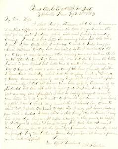 Joseph Culver Letter, September 10, 1863, Page 1