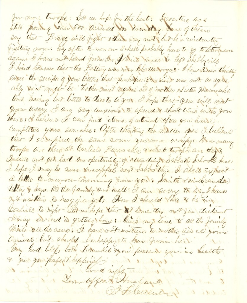 Joseph Culver Letter, September 16, 1863, Letter 2, Page 2