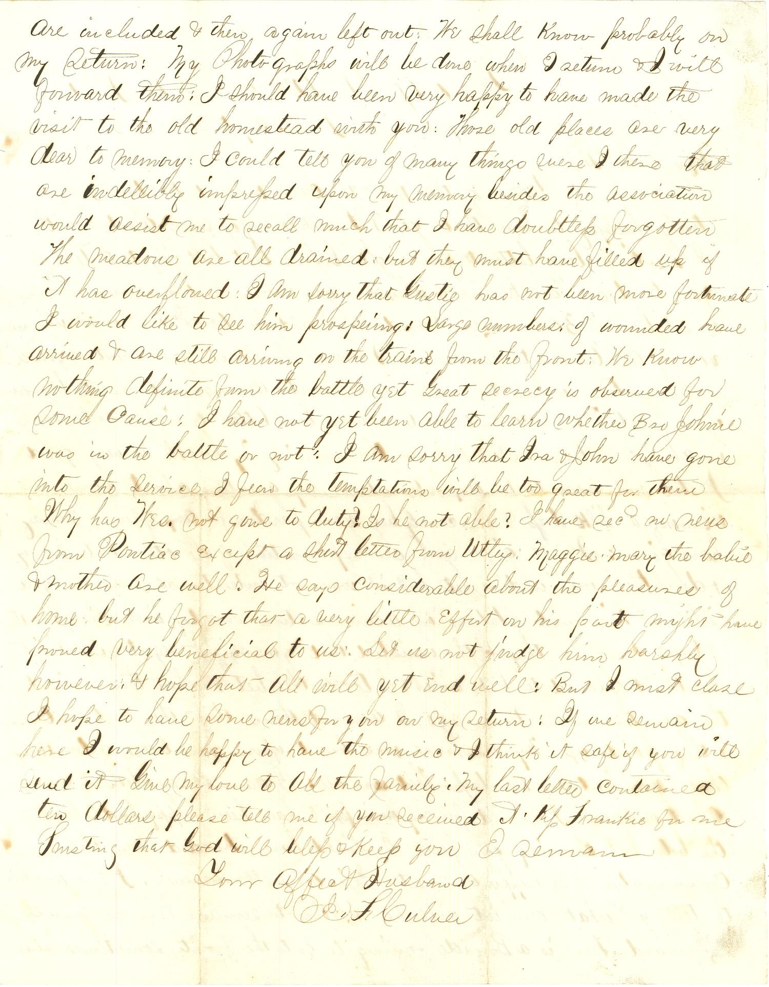 Joseph Culver Letter, September 24, 1863, Page 2