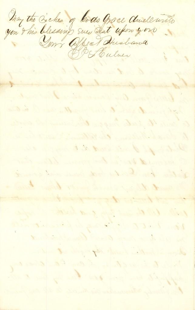 Joseph Culver Letter, September 29, 1863, Page 4
