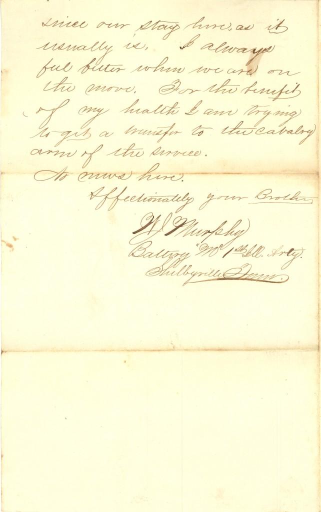Joseph Culver Letter, August 1, 1863, Page 2