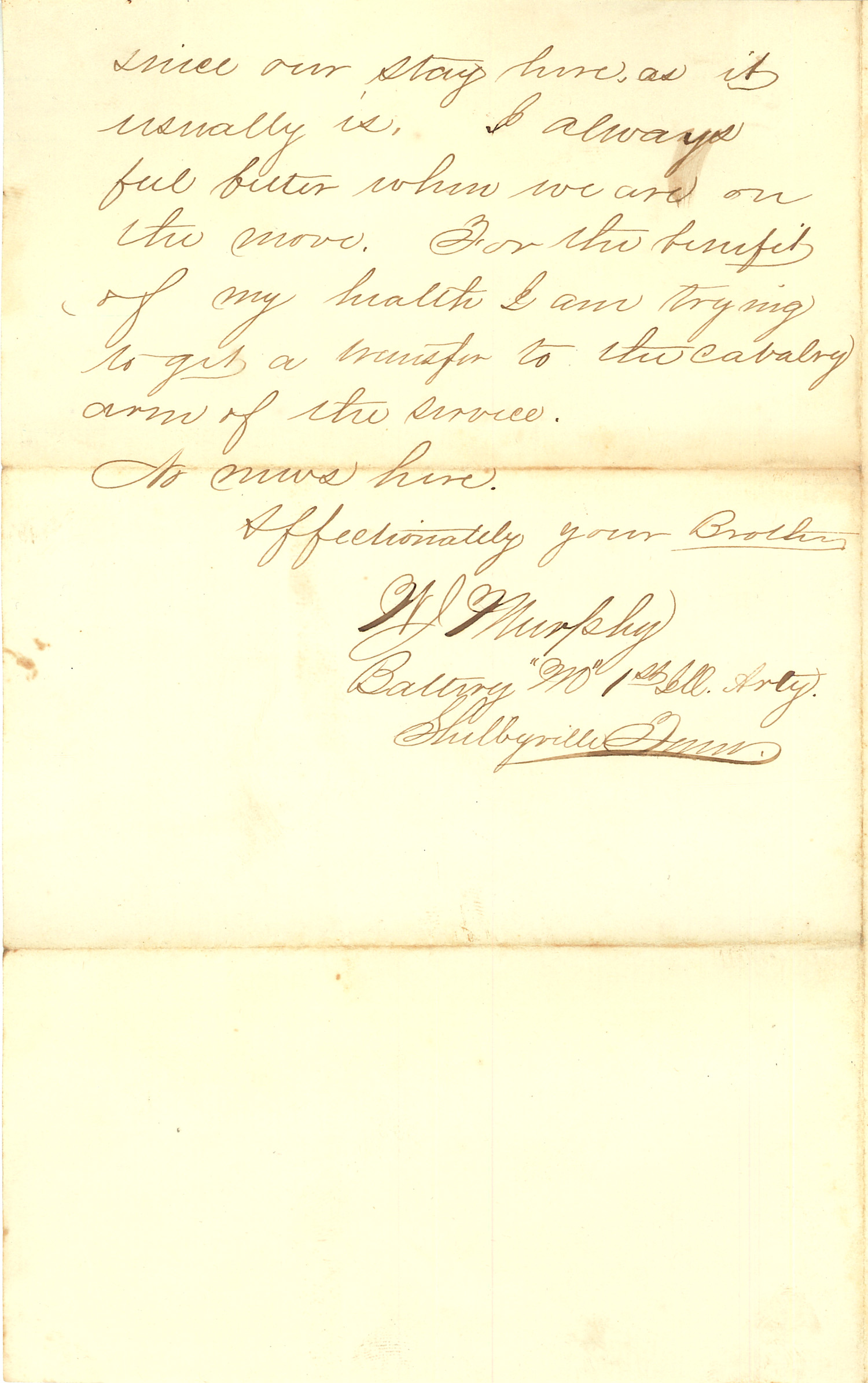 Joseph Culver Letter, August 1, 1863, Page 2