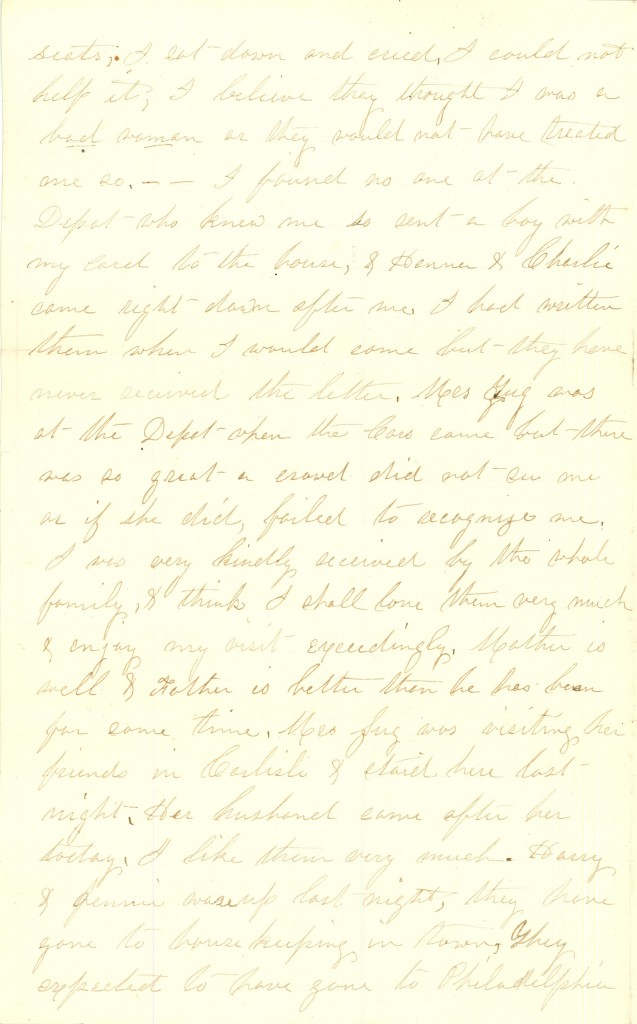 Joseph Culver Letter, August 28, 1863, Page 2