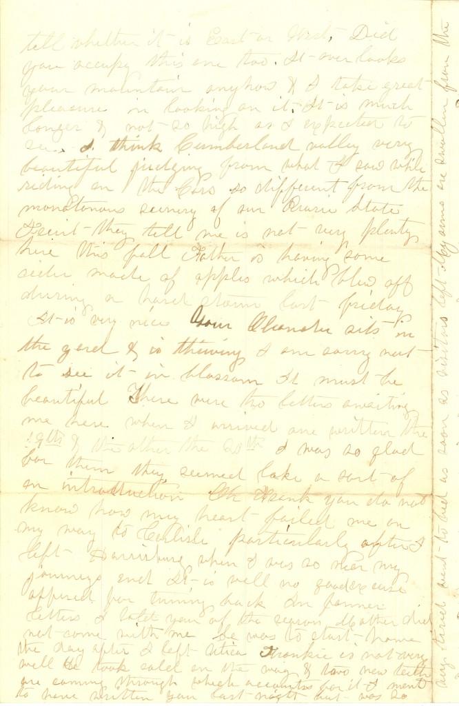 Joseph Culver Letter, August 28, 1863, Page 4