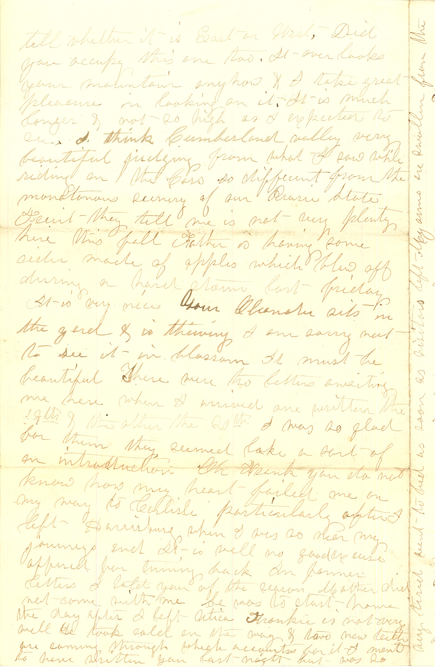 Joseph Culver Letter, August 28, 1863, Page 4