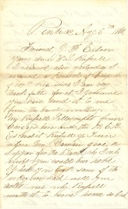 Joseph Culver Letter, August 5, 1863, Page 1
