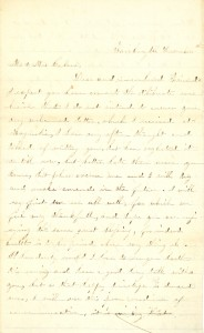 Joseph Culver Letter, December 2, 1863, Page 1