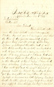 Joseph Culver Letter, December 6, 1863, Page 1