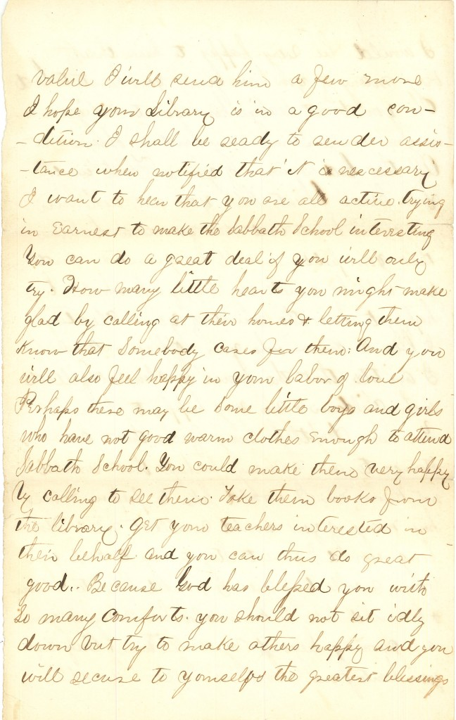 Joseph Culver Letter, December 6, 1863, Page 8