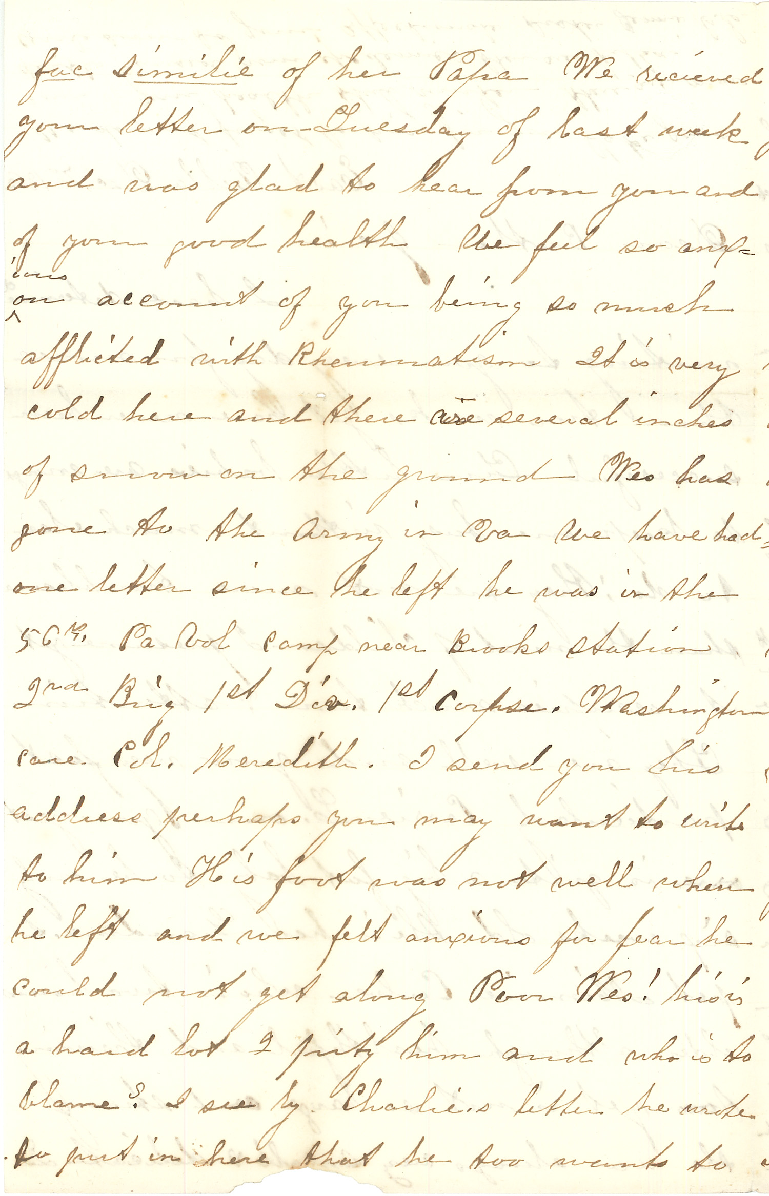 Joseph Culver Letter, December 7, 1863, Page 2