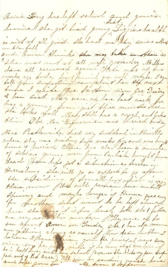 Joseph Culver Letter, December 7, 1863, Page 4