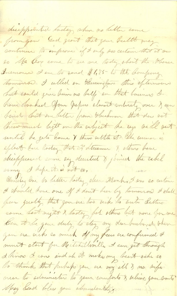 Joseph Culver Letter, February 1, 1863, Page 2