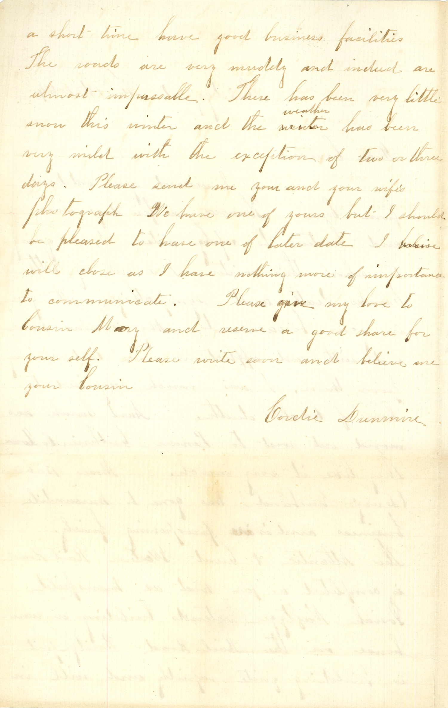 Joseph Culver Letter, February 1, 1864, Letter 2, Page 2