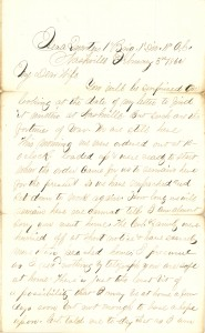 Joseph Culver Letter, February 3, 1864, Page 1