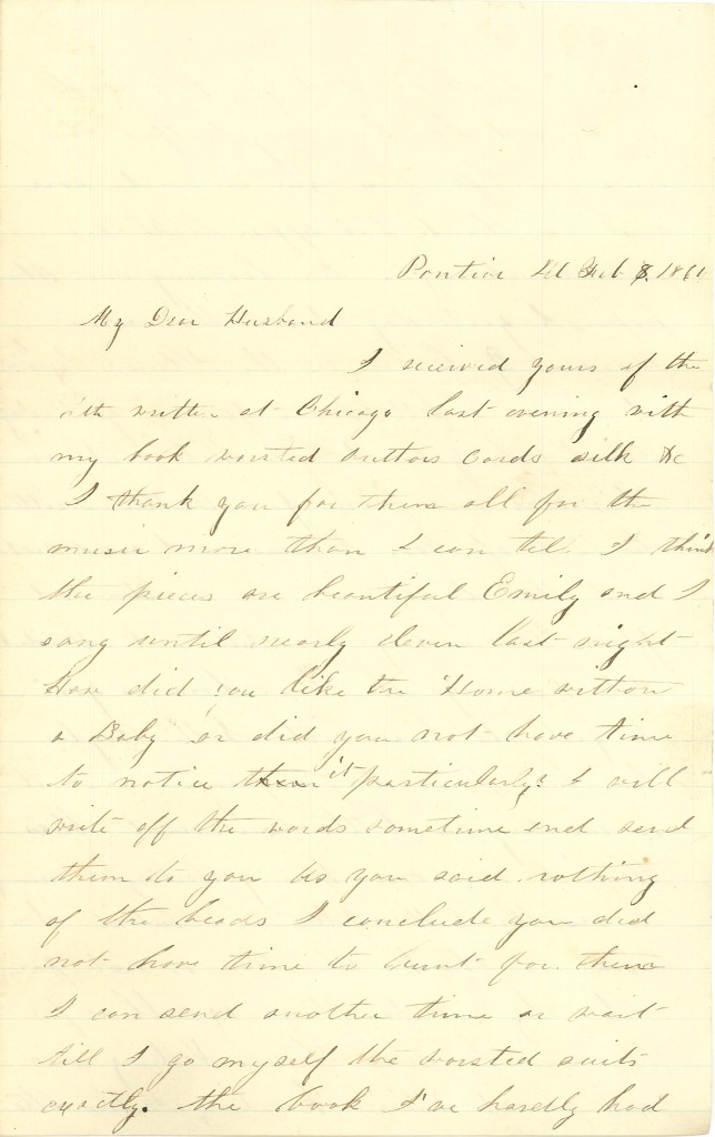 Joseph Culver Letter, February 8, 1864, Page 1