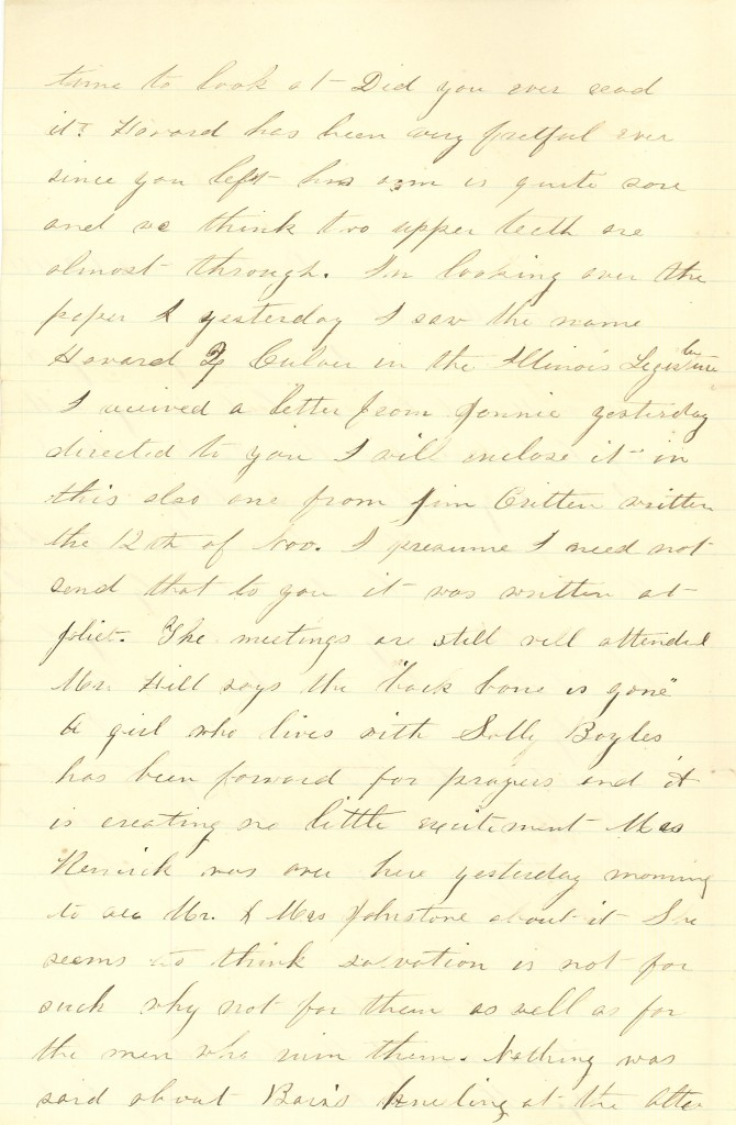 Joseph Culver Letter, February 8, 1864, Page 2