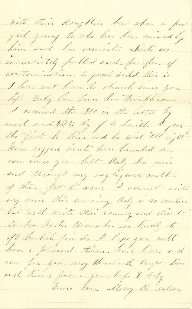 Joseph Culver Letter, February 8, 1864, Page 3