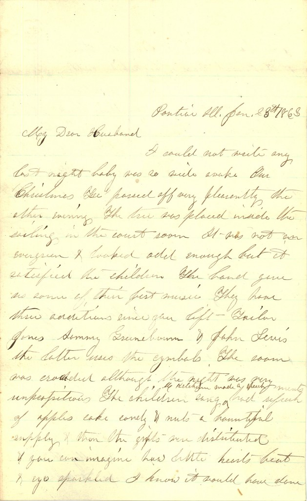 Joseph Culver Letter, January 23, 1863, Page 1