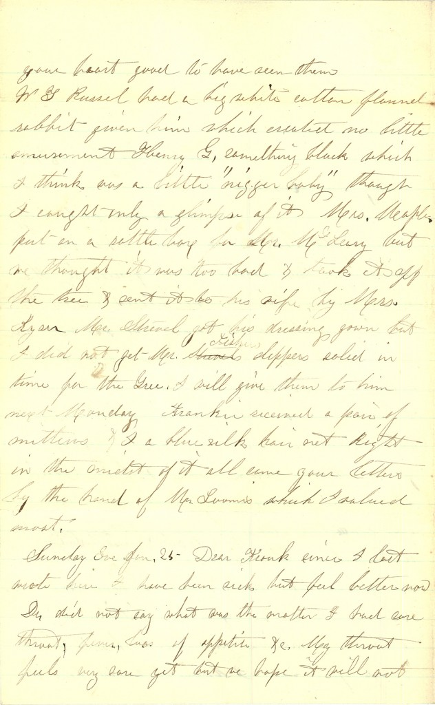 Joseph Culver Letter, January 23, 1863, Page 2