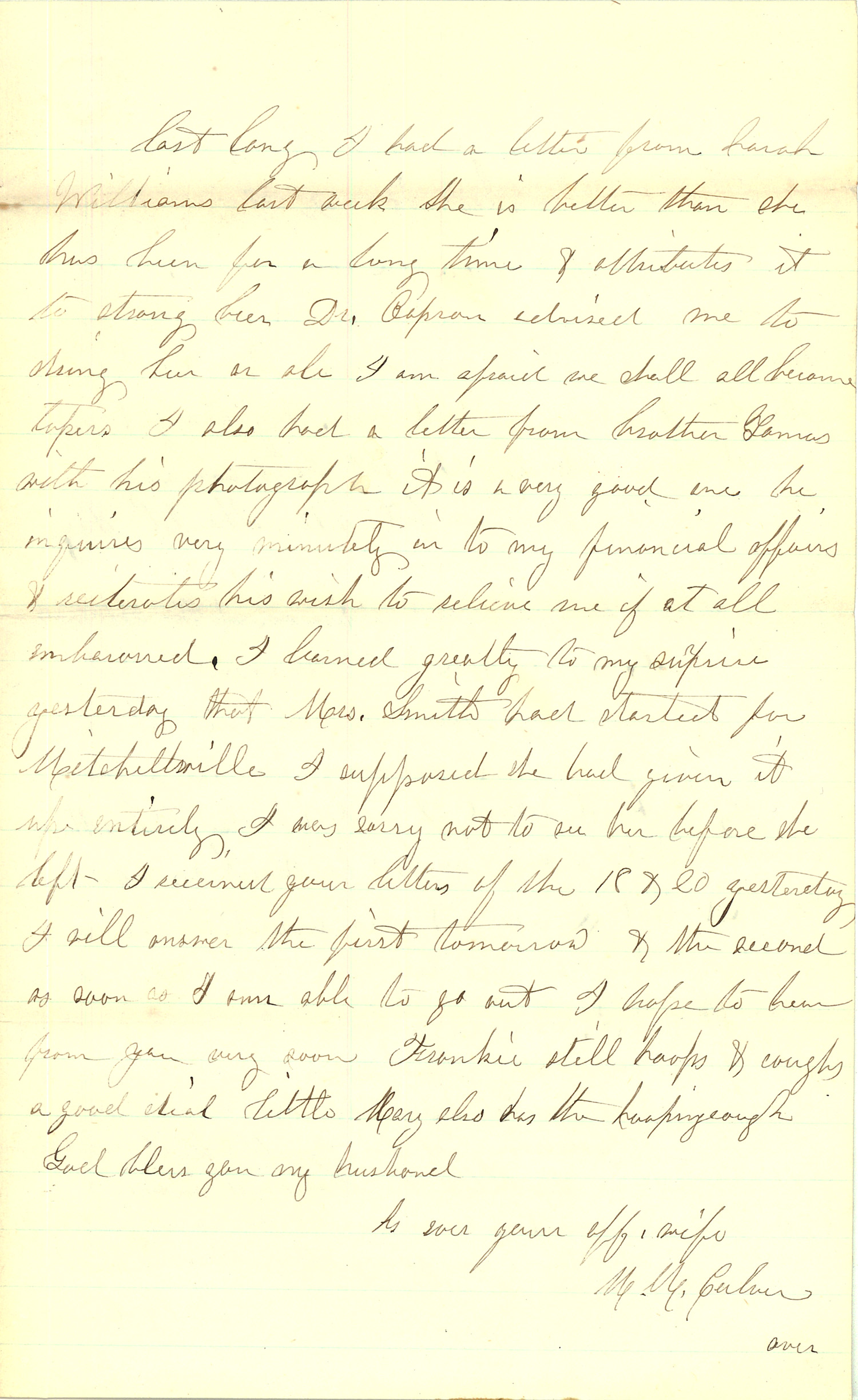 Joseph Culver Letter, January 23, 1863, Page 3