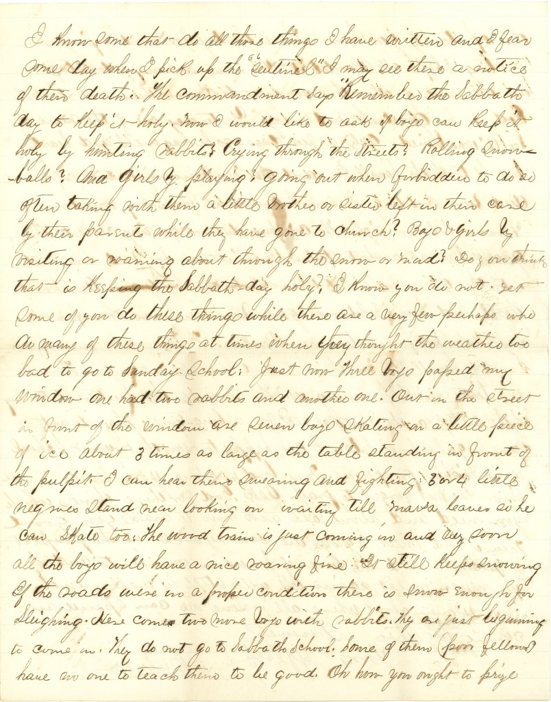 Joseph Culver Letter, January 3, 1863, Page 3