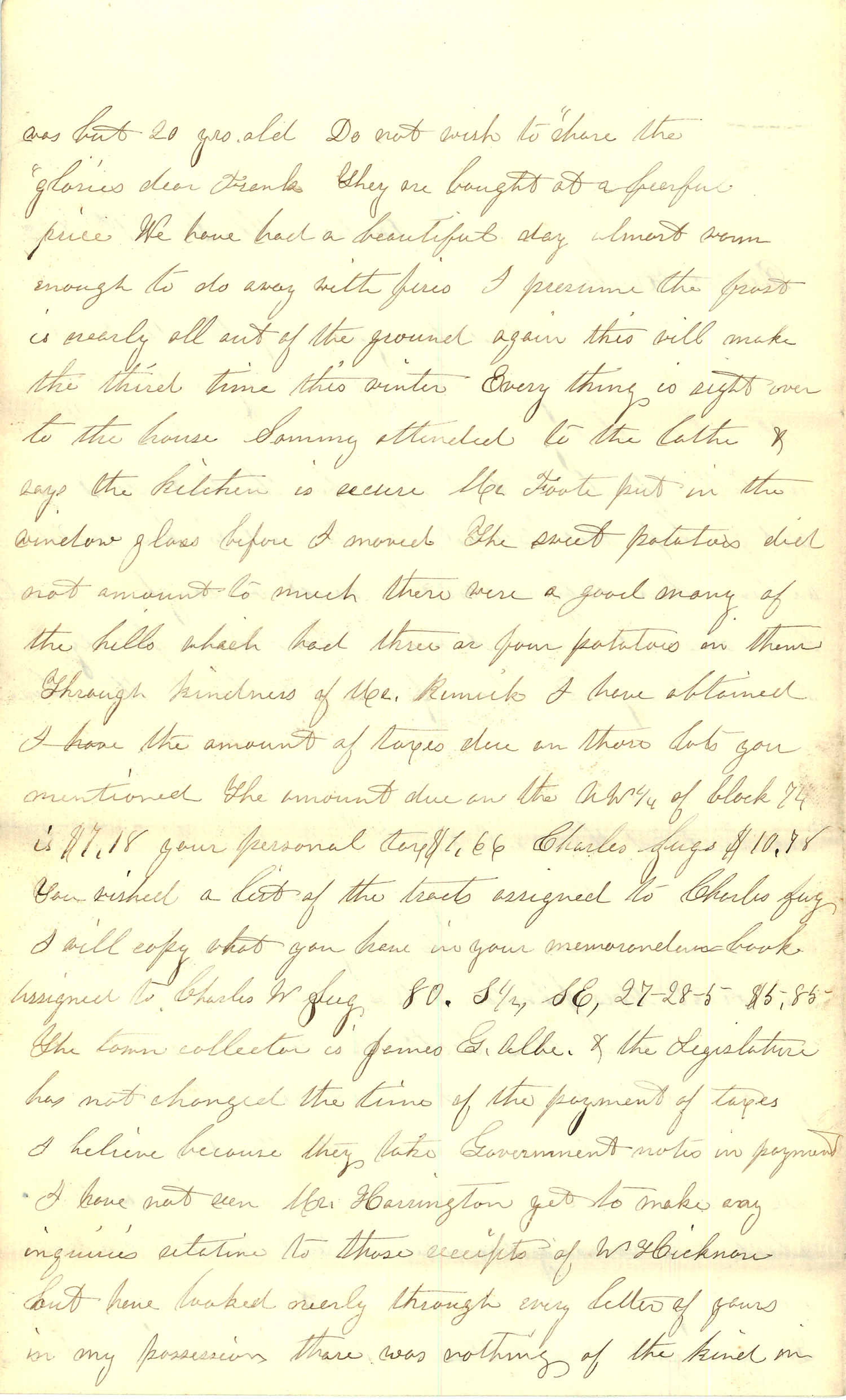 Joseph Culver Letter, January 31, 1863, Page 2