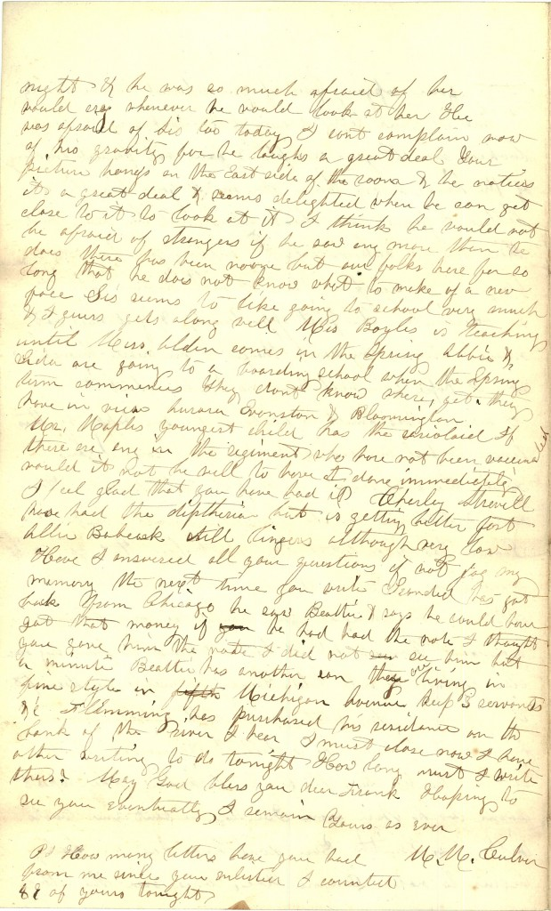 Joseph Culver Letter, January 31, 1863, Page 4
