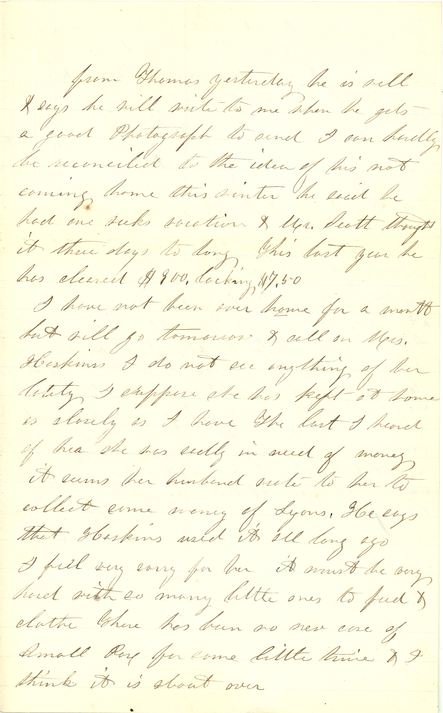 Joseph Culver Letter, January 9, 1863, Page 3