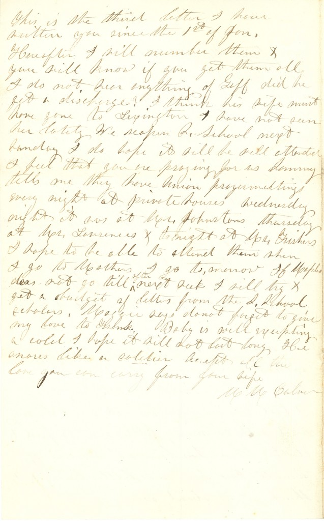 Joseph Culver Letter, January 9, 1863, Page 4