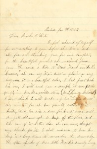 Joseph Culver Letter, January 9, 1864, Page 1