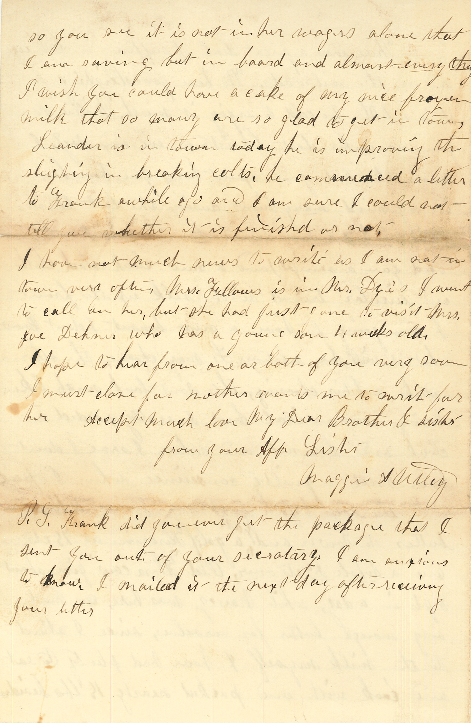 Joseph Culver Letter, January 9, 1864, Page 4