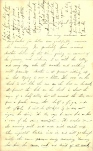 Joseph Culver Letter, March 26, 1863, Page 1